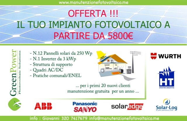 offerta impianto fotovoltaico
